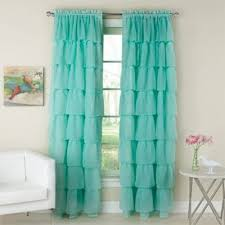 Buy Aqua Sheer Curtains From Bed Bath Beyond