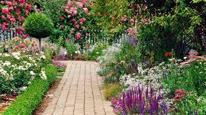 cottage garden design. Contemporary Design Cottage Garden Ideas With Brick Pavements As The Path To Area  Of Your To Cottage Garden Design