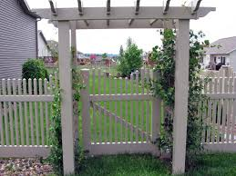 picket fence gate with arbor. Arbor And Short Gate Picket Fence With R