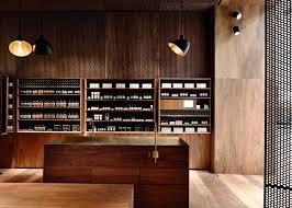 Interior Designer Melbourne Simple Dark Australian Timber Lines Aesop Melbourne Store