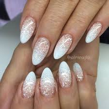 White Glitter Ombre Nails Nails White Acrylic Nails A Acrylic Nails