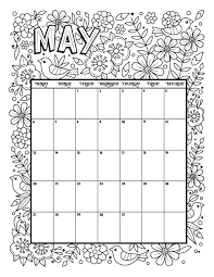 May Blank Calendars May 2018 Calendar Cute Design July 2020 Calendar Printable