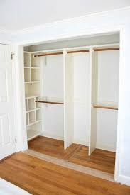 closet after removing doors and central