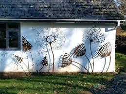 outdoor wall sculptures sculpture unique decor external murals exterior regarding metal
