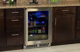 Undercounter Beverage Refrigerator Glass Door Marvel Premium Indoor Undercounter Refrigeration