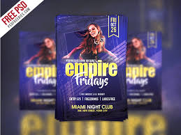 Free Flyer Friday Party Flyer Template Free Psd Psdfreebies Com