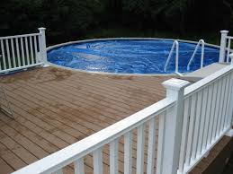 R Impressive Image Of Backyard Landscaping Decoration Using Above Ground  Round Pool Deck Ideas  Interesting Picture