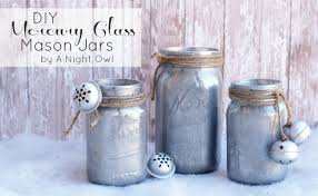 Mason Jars Decorated For Christmas DIY Mercury Glass Mason Jars A Night Owl Blog 54