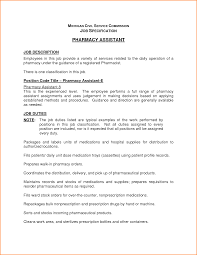 Pleasing Pharmacy Assistant Resume In Resume Pharmacy Technician