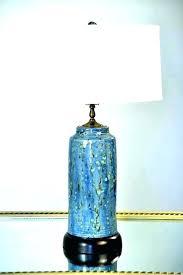 cobalt blue lamp base ceramic lamps glazed table tea jar glass