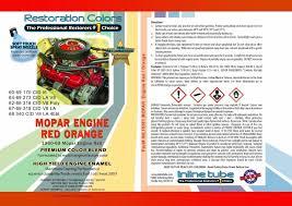 Mopar Engine Color Chart Details About 1960 1969 Mopar Dodge High Temp Engine Enamel Red Orange Spray Paint 2 Can