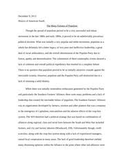 research paper on kkk hallman american south in th century  ku klux klan class notes · 7 pages failures of populism in south paper