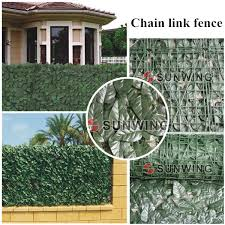 wire fence covering. 12 Sqm 4 Rolls 1M*3M Artificial Fence Covering Fake Plants Banyan Leaf Chain  Link Wire G