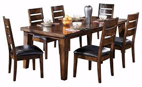 amazon ashley furniture signature design larchmont dining room table old world style burnished dark brown tables