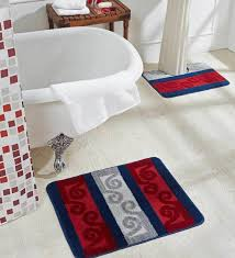 abstract pattern polypropylene bath mat contour mat by obsessions