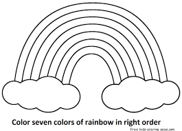 Small Picture Seven rainbow colors Free Printable Coloring Pages For KidsFree