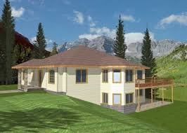Melita Sloping Lot Home Plan D    House Plans and More