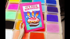 Sand Card Sand Art How To Do Sand Art Birthday Card With Colourful Toning
