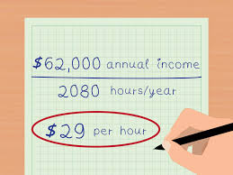 average salary calculator 3 ways to calculate your real hourly wage wikihow