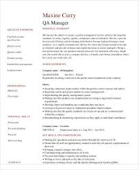 Job Specific Resumes Sample Quality Assurance Resume 9 Examples In Word Pdf