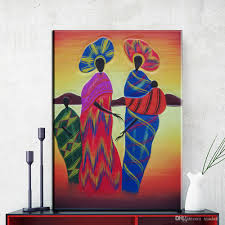 2018 zz716 modern abstract canvas wall art colorful abstract african women canvas oil art painting wall pictures for livingroom decor from xiadar02  on modern canvas wall art abstract with 2018 zz716 modern abstract canvas wall art colorful abstract african