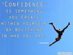 Quotes On Being Confident In Yourself Best of Confidence Is Something You Create Within Yourself By Believing In