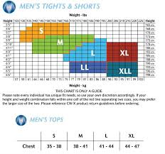 Size Charts For Cw X Baselayers