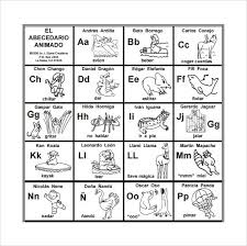Spanish Alphabet Pronunciation Chart Spanish Alphabet Chart Printable Free Www