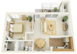 One bedroom apartment home design plans credit oryxre oryxre com