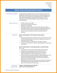 8 Sample Resume For Retail Store Manager Azzurra Castle Grenada