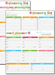 Free Weekly Meal Planner With Grocery List Free Printable Grocery List Meal Planner Get Organized