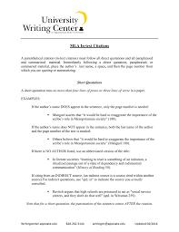 Mla University Writing Center