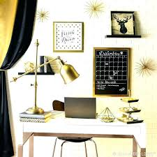 Stylish home office desks Modern Compact Computer Black And Gold Desk Accessories Gold Office Desk Classy Black And Elegant Gold Pair Together For Stylish Home Office Desk Gold Office Black And Gold Desk Storage Ideas Black And Gold Desk Accessories Gold Office Desk Classy Black And