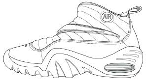 Shoe Coloring Page Nike Air Jordan Pages Dexyarya