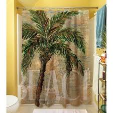 palm tree shower curtain best palm tree shower curtain and bath accessories images on intended for palm tree shower curtain