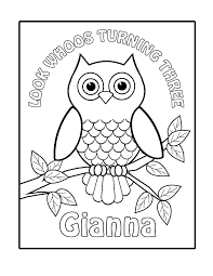 Owl Coloring Pages For Kids Cute Baby Owl Coloring Pages Free Of