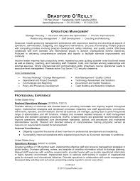 resume example for military