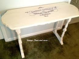 french sewing table vintage paint