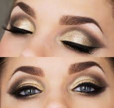 clic gold smokey eyes and red lips bination