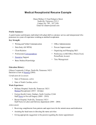 Medicaltrative Assistant Resume Examples Samples Summary Medical