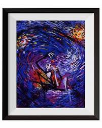Nordic poster nursery decor pictures,tableau,scandinavian style. 11x14 Uhomate Jack Sally Jack And Sally Nightmare Before Christmas Vincent Van Gogh Starry Night Posters Home Canvas Wall Art Anniversary Gifts Baby Gift Nursery Decor Living Room Wall Decor A015 Home
