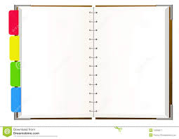 notebook with empty pages