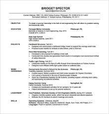 Resume Freshers Format 5 Civil Engineer Fresher PDF Template