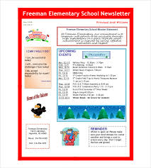 School Newsletter Template 7 Word Pdf Psd Documents Download
