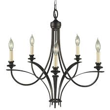 image of chandelier in oil rubbed bronze finish