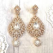 diamante chandelier teardrop earrings
