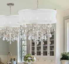 crystal chandelier with drum shade unique crystals houzz edvivi intended for popular household drum shade crystal chandelier prepare