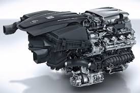 this twin turbocharged 4 0 liter v8 engine from the amg gt c however is the exact opposite the intake ports feed from the outside of the engine by two