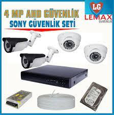 Lemax 4 Kameralı 4 MP Ahd Güvenlik Kamerası Sistemleri 849 TL | Lemax  Güvenlik