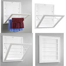 whitmor wall mounted drying rack white